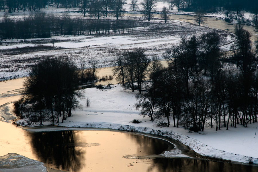 Северский Донец зимой возле Изюма, пейзажи харьковщины
