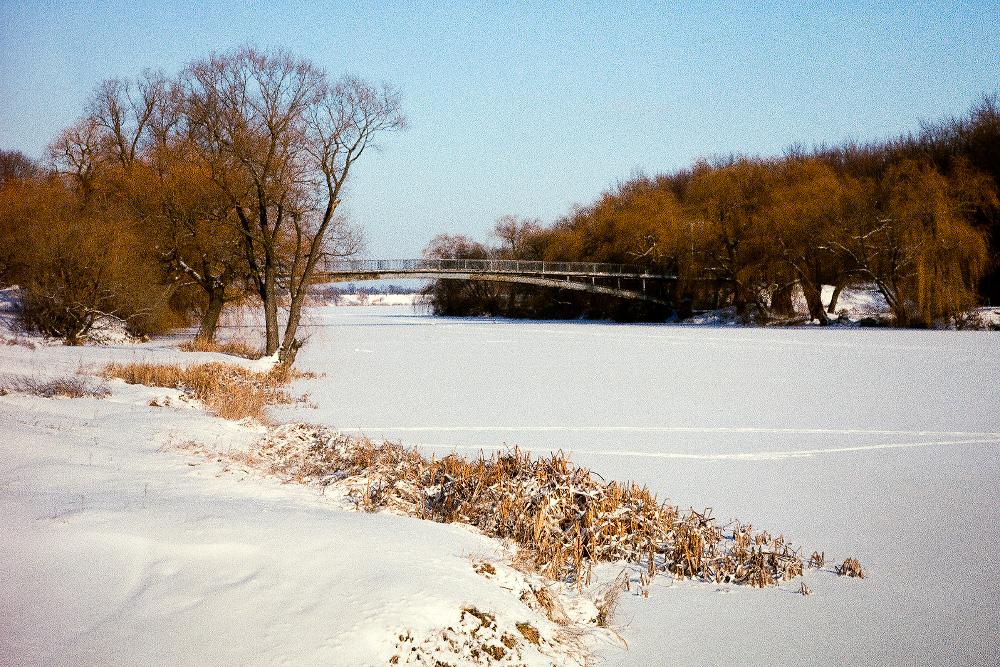 Зима в гидропарке