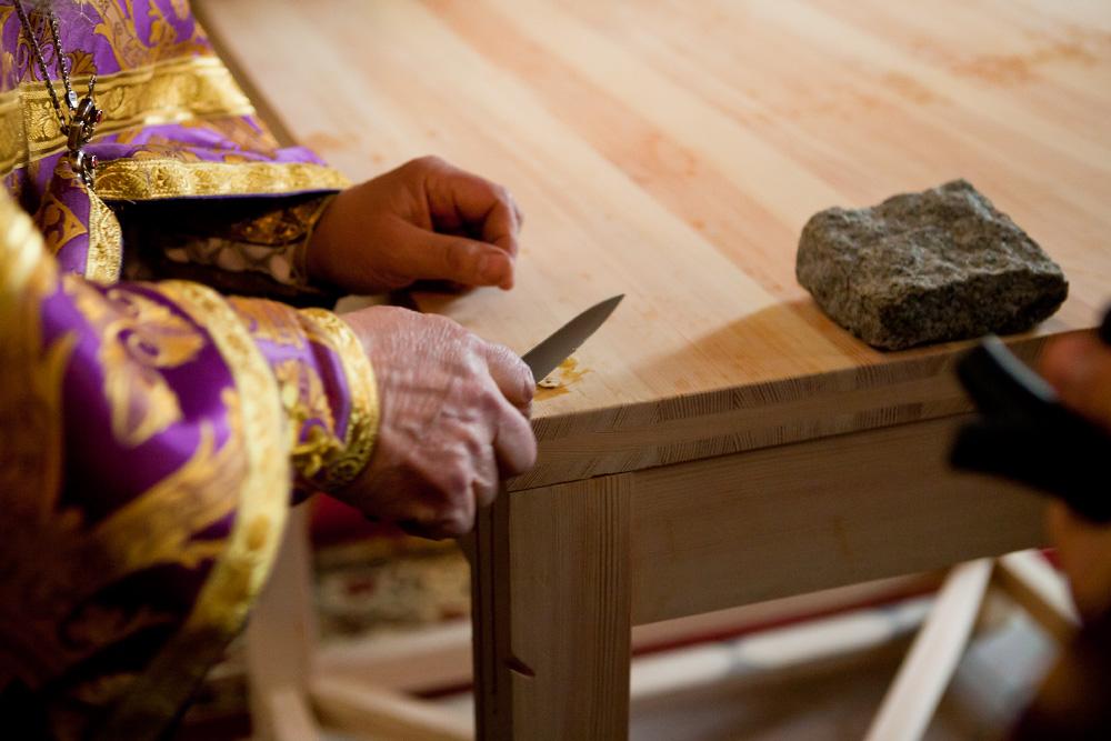 Как освящают храм и престол