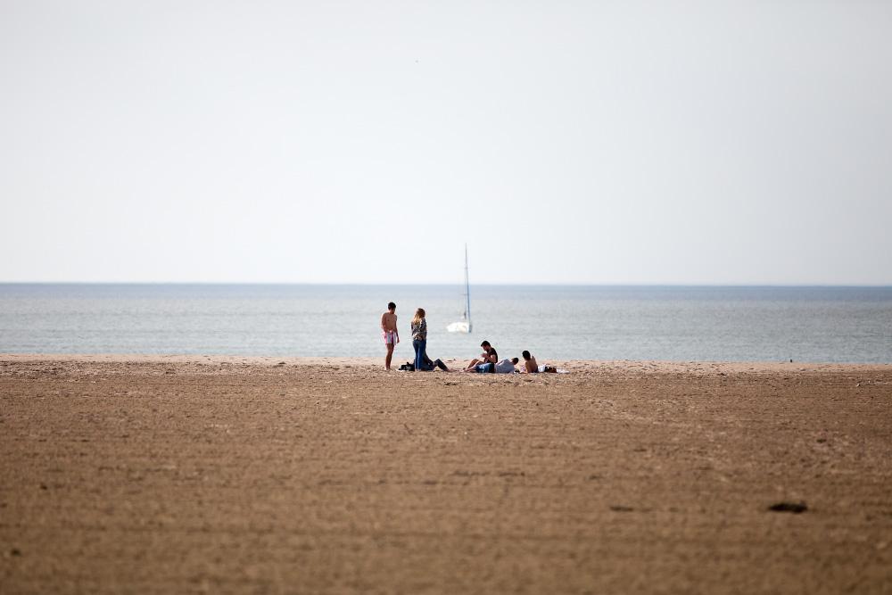 Французский секс на общественный пляж