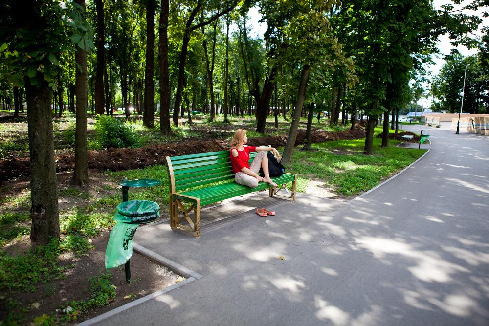 Парк Горького - прогулка летним днем